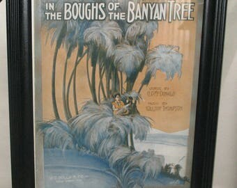 Framed In the Boughs of the Banyan Tree Sheet Music 11x14