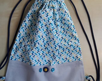 Two-tone cotton backpack