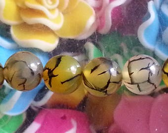 5 beads of agate veins dragon medical virtues in Crystal healing 8mm