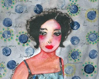 Thomas portrait woman without a matte paper