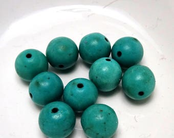 turquoise howlite beads 10mm 10 ideal for creating