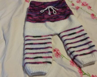 Hand knitted pants girls 3 months
