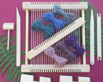 "Weaving Loom Craft Kit -"" Snowy Owl - Natural "" Large Deluxe Hand-made Steiner Inspired"