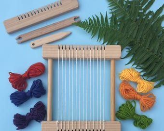 """Weaving Loom Craft Kit -""""Little Owl - Rainbow"""" Children's Small Steiner Inspired"""