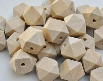 20mm natural color wooden beads