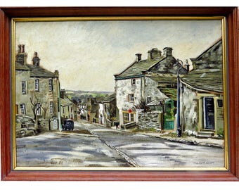 C 1950's TL Kerkham Painting, Original, Renowned Artist, Signed, Appreciating, Grassington, Yorkshire Dales.