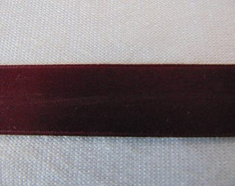 Double faced satin ribbon, Burgundy (S-0064)