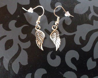 Earrings small Angel Wings lolita goth rock