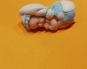 baby boy blue polymer clay