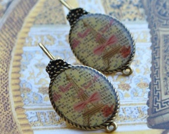 Support earring cameo sleeper gold romantic