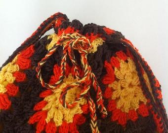 Great tones autumn crochet bag