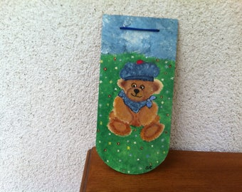 Sailor bear wood tile