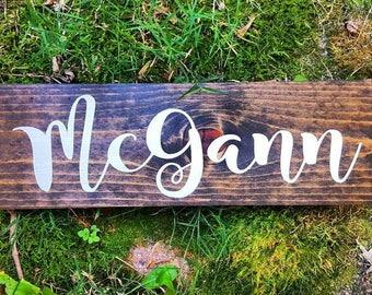 Last Name Sign | Custom Last Name Sign | Established Date Sign | Farmhouse Sign | Custom Wood Signs | Farmhouse Decor | Rustic Wedding Decor