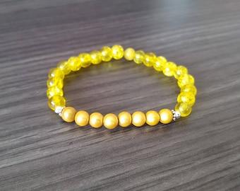Bracelet beads magic yellow