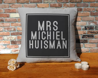Michiel Huisman Pillow Cushion - 16x16in - Grey