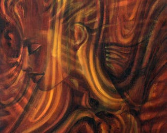 WOOD memory painting figurative oil on canvas
