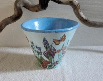 """Authentic terracotta """"sentimental"""" Landes pine pot"""