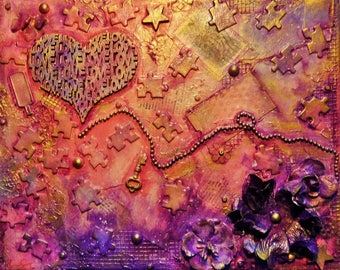 Love-Mixed Media Canvas