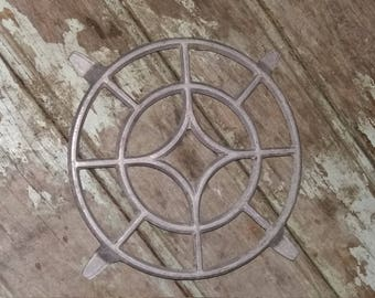 Vintage French Aluminium Trivet,Kitchen, Pot Stand,Kitchen Ware,Decor,Gift,Tableware,French,Home Ware,Pot Stand