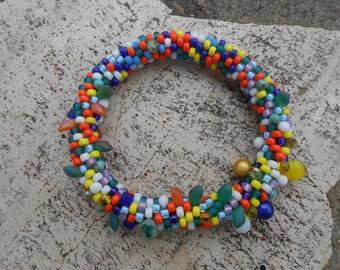 """Beaded crochet bracelet """"Colors n ° 5"""""""