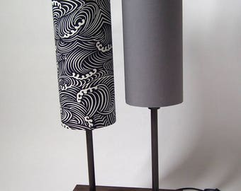 beautiful Japanese fabrics and wood lamp