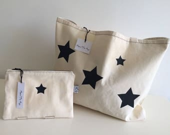 Stars and matching pouch tote bag