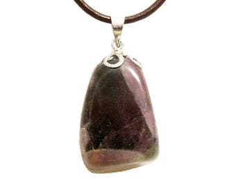 Pendant stone wrapped in silver plated - Amethyst