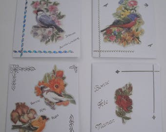 Set of 5 (1) hand made 3d or embossed cards