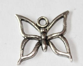 charm silver butterfly, 18 * 19 mm, set of 5 mm
