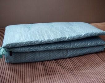 Turquoise Bohemian chic sofa Topper