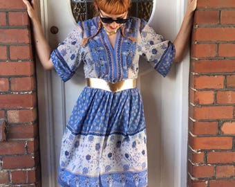 Gorgeous Vintage Sheer Floral Sun Dress