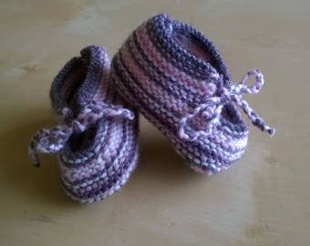 Hand knitted baby booties baby original