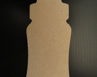 Bottle 13 cm wooden MDF - Gomille
