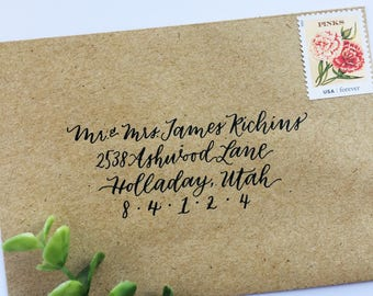 Custom Envelope Address, Envelope Addressing, Calligraphy Address, Handwritten Envelope, Wedding Envelopes, Wedding Envelope Calligraphy