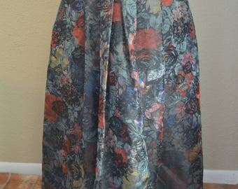 Vintage Gossl skirt - vintage skirt - vintage floral skirt - floral skirt