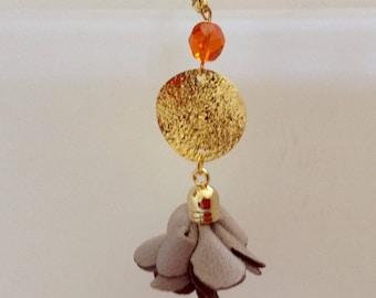"Pair of ""petals"" Silk tassel earrings"