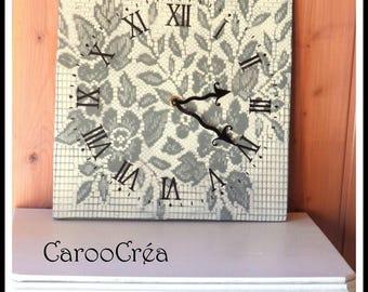 "Clock wood wall ""smart romantic style"""