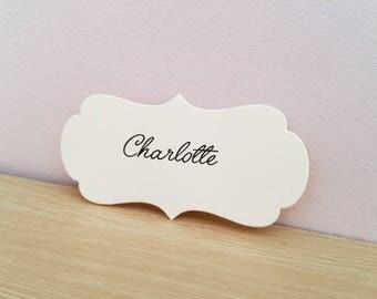 10 place cards wedding or baptism custom