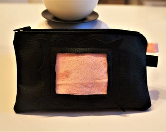 Kit, makeup, faux leather black color, 10 * 16, 5 cm