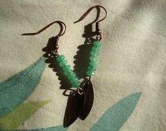 Green harmony earrings
