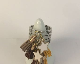 Tassel stacked ring