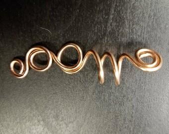 Copper wire loc jewelry
