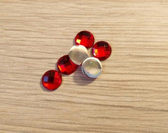 lot 8 mm red cabochon
