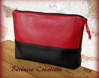 """Clutch purse flat """"pep's color"""" Red"""