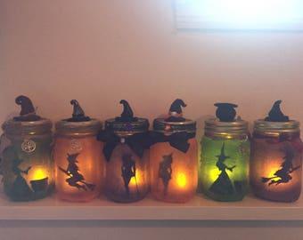 Halloween Witches Jar