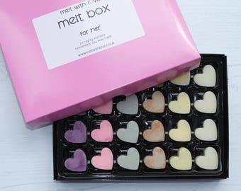 For Her Soy Wax Melt Box. Soy wax melts, soy wax, perfume wax melts, perfume candle melt, wax melt favour, wax melt.
