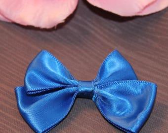 1 40x60mm jewelry scrapbooking bright blue satin bow