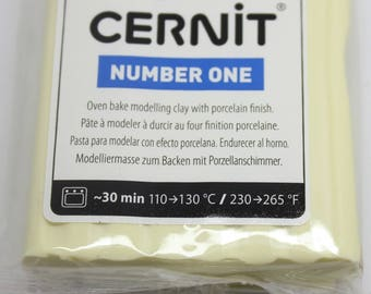Polymer clay CERNIT Number One color-vanilla - 56 Gr