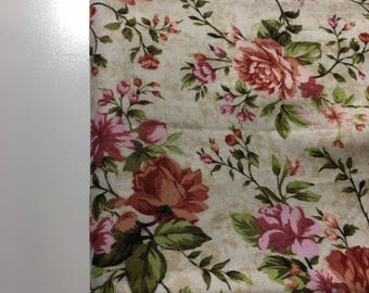 fabric cotton flowers - 110 cm * 29.5 cm