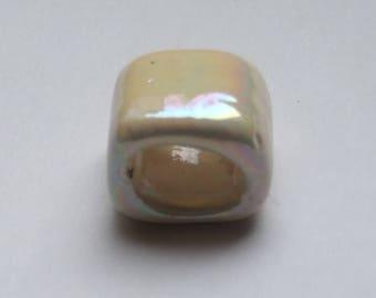 PASSING ceramic RECTANGLE ECRU 17x13MM